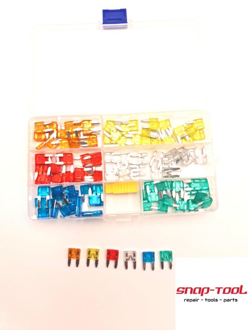 120x KFZ MINI-Flachsicherungen Sortiment 5-30A Flachsicherung Set