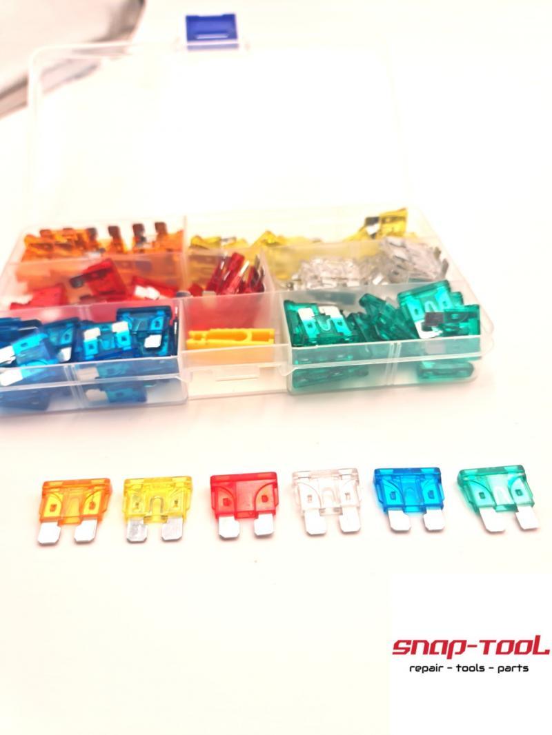120x KFZ Standard-Flachsicherungen Sortiment 5-30A Flachsicherung Set