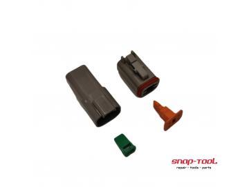 Deutsch Stecker Set DT 4 P & 4 S ohne Pins