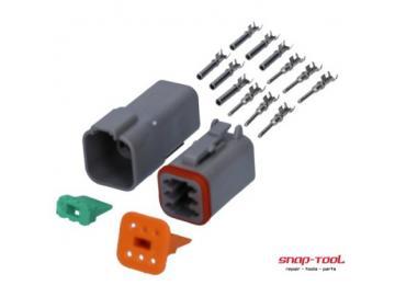 Deutsch Stecker Set DT 6 P & 6 S Pins gestanzt