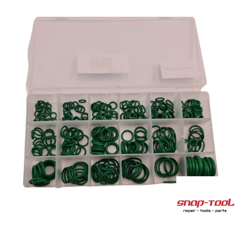 Dichtringe/ O-Ringe 270 Stück/18 Größen KlimaanlageReparatur BoxGröße 20,5*10,2*3cmFarbe GrünMaterial Gummi