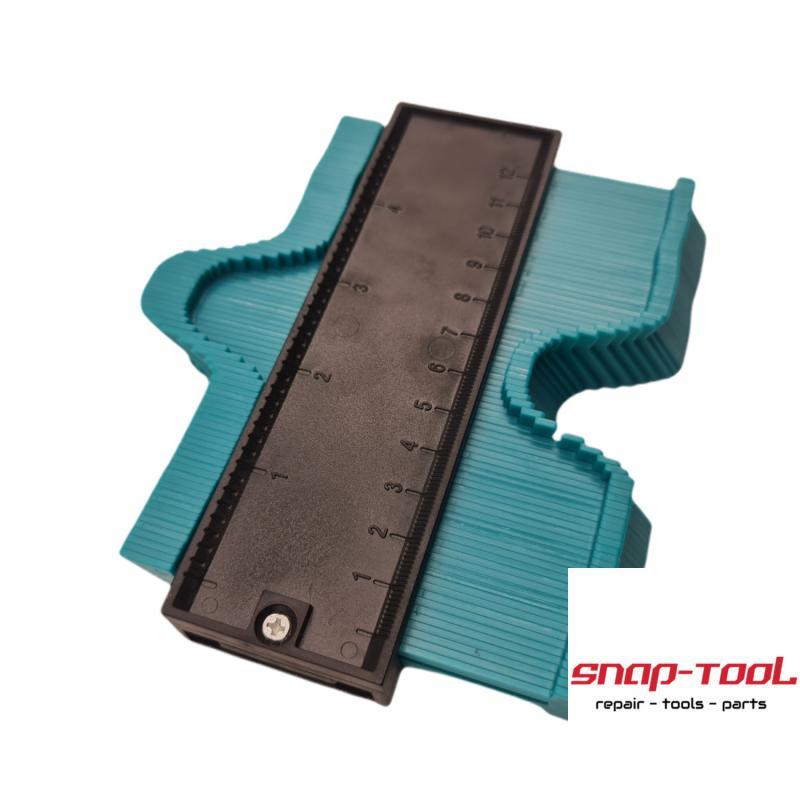 Konturlehre Eigenschaften:Hergestellt von hoher Qualität ABS Kunststoff, hohe Festigkeit, langlebig, anti-RostEinfach zu bedienen.Entwickelt für Rohre, kreisförmigen Rahmen, Kanäle und vielen anderen Objekten.Artikel t