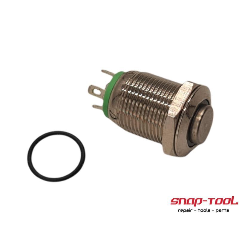 Led Drucktaster 12 v, Durchmesser 12mm, grün beleuchtet